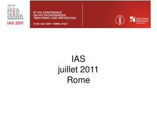IAS  juillet 2011 Rome