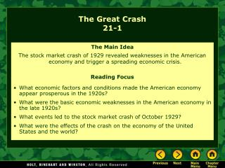 The Great Crash 21-1