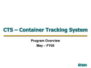 CTS   Container Tracking System