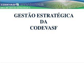 GESTÃO ESTRATÉGICA  DA CODEVASF