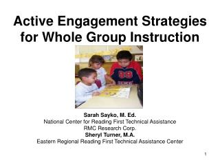 Active Engagement Strategies  for Whole Group Instruction