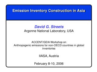 Emission Inventory Construction in Asia