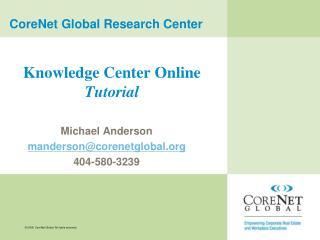 Knowledge Center Online  Tutorial