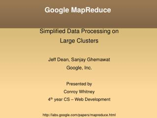 Google MapReduce