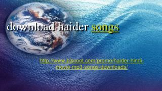 haider mp3 songs