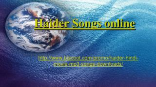 download haider mp3 songs