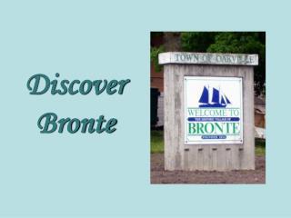 Discover Bronte