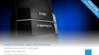 VSPEX CHANNEL SALES PROMOTION