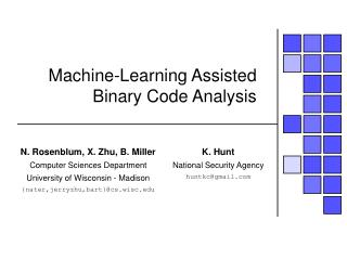 Machine-Learning Assisted Binary Code Analysis