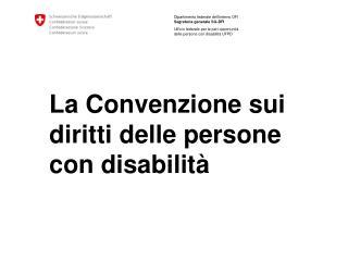 La Convenzione sui diritti delle persone con disabilità
