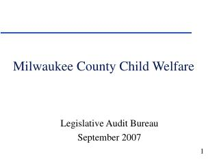 Milwaukee County Child Welfare