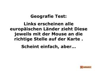 Geografie Test:
