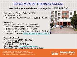 RESIDENCIA DE TRABAJO SOCIAL
