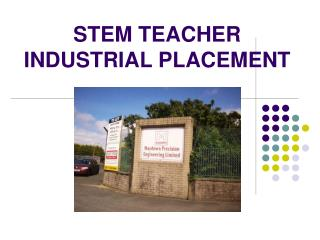 STEM TEACHER INDUSTRIAL PLACEMENT