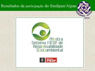 Resultados da  participação  do Sindipan/Aipan .