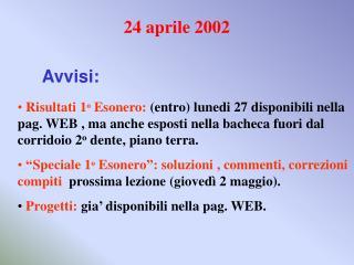 24 aprile 2002