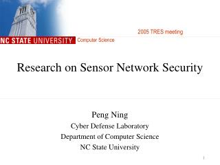 Research on Sensor Network Security