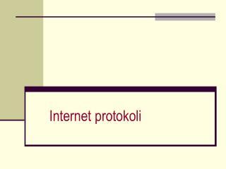 Internet protokoli