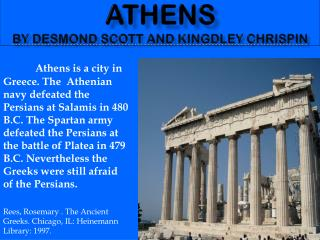 Athens by desmond scott and kingdley chrispin