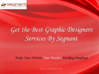 Get the Best Graphic Designers Services By Segnant
