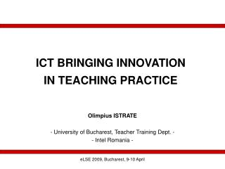 ICT BRINGING INNOVATION IN TEACHING PRACTICE