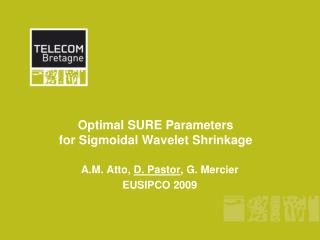 Optimal SURE Parameters  for Sigmoidal Wavelet Shrinkage