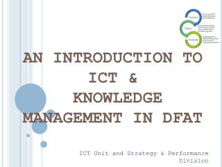 ICT Unit and Strategy & Performance Division Pre-posting Training, June 2014