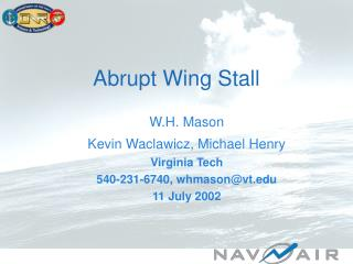 Abrupt Wing Stall