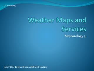 Weather Maps and Services