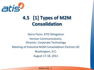4.5   [1] Types of M2M Consolidation