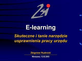E-learning Skuteczne i tanie narzędzie  usprawnienia pracy urzędu