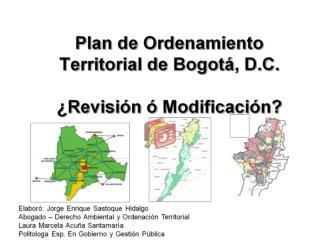 Ordenamiento Territorial desde la Planificación Ambiental