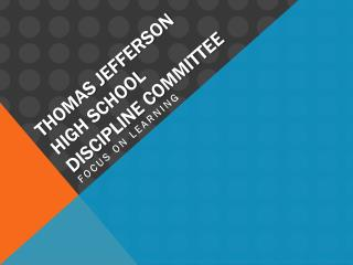 Thomas Jefferson High School Discipline Committee