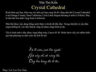 Nhà Thờ Kiến  Crystal Cathedral