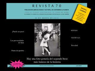 R  E  V  I  S  T  A   7  0     PUBLICACIÓN LIBRE DE ÁCIDOS Y DE PAPEL, NO CONTAMINA AL PLANETA