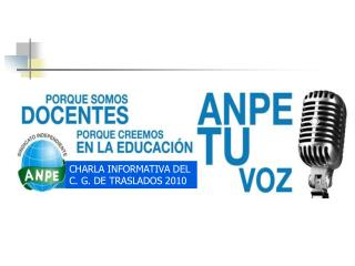 CHARLA INFORMATIVA DEL C. G. DE TRASLADOS 2010