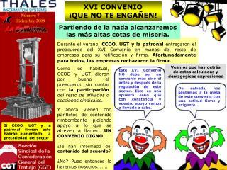 XVI CONVENIO ¡QUE NO TE ENGAÑEN!