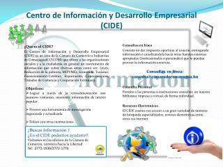 Centro de Información y Desarrollo Empresarial (CIDE)
