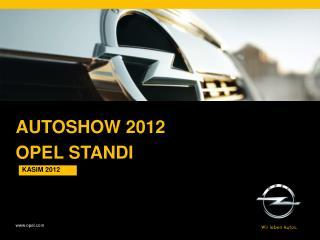 AUTOSHOW 2012 Opel  standI