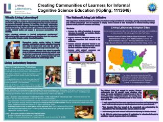 Creating Communities of Learners for Informal Cognitive Science Education (Kipling; 1113648)