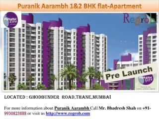 1&2 bhk Residential flat-apartment in Ghodbunder Road,Thane-