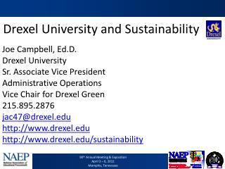 Drexel University and Sustainability