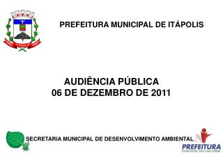 PREFEITURA MUNICIPAL DE ITÁPOLIS