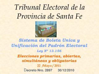 Tribunal Electoral de la Provincia de Santa Fe