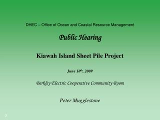 DHEC – Office of Ocean and Coastal Resource Management