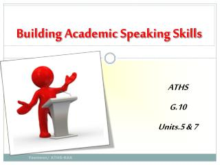 Building Academic Speaking Skills