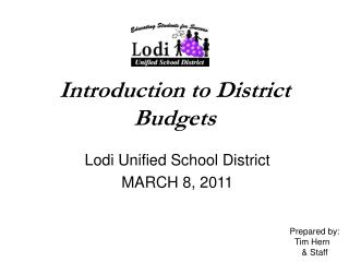 Introduction to District Budgets