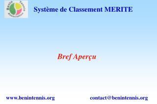 Système de Classement MERITE