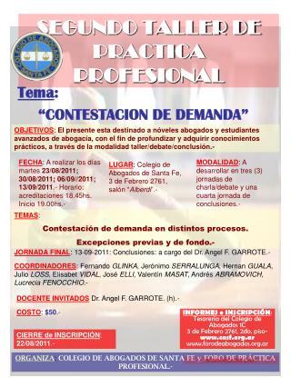 SEGUNDO TALLER DE PRACTICA PROFESIONAL