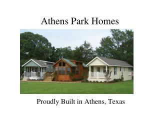 Athens Park Homes